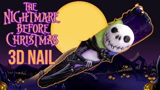 The Nightmare Before Christmas - HALLOWEEN 3D NAIL ART
