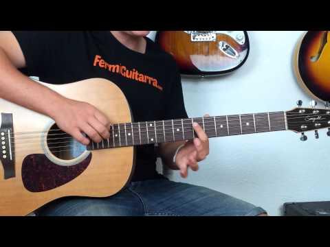 Tema Super Fácil en Guitarra acústica - Balada - Rasgueo - Melodia