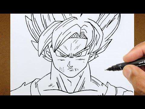 como desenhar goku super saiyajin 4 dragon ball gt desenha fácil