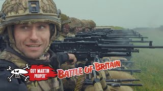 Guy fires the machine guns used during the Battle of Britain | Guy Martin Proper
