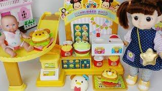 Baby doll and Disney Hamburger shop toys pororo drink play 아기인형 디즈니 햄버거 가게 뽀로로 장난감놀이 - 토이몽