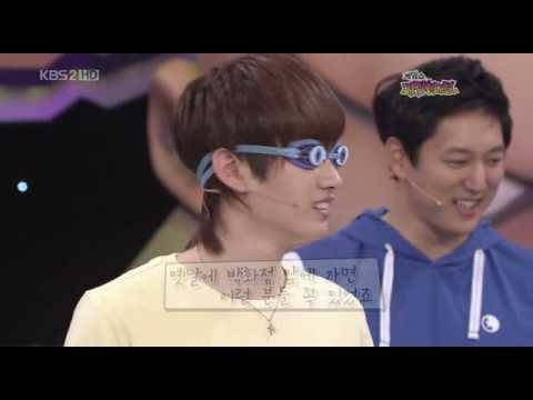 090510 Gameshow Amazing Contest - Eunhyuk won the Jump Game and Got the Crown