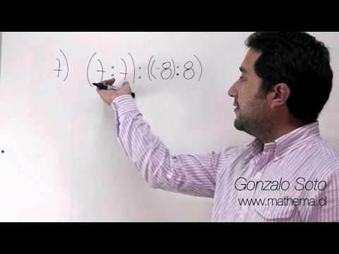 Conjunto Z: División de números con distinto signo