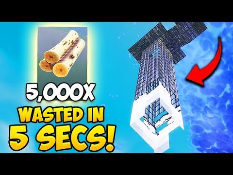 *NEW RECORD* Wasting 5000 Materials in 5 Seconds! - Fortnite Fails and WTF Moments! #413