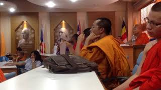 THAI YAI MONK SPEAK ENGLISH ON THE CONTEST ON THE WAY TO GET PEACE 2018