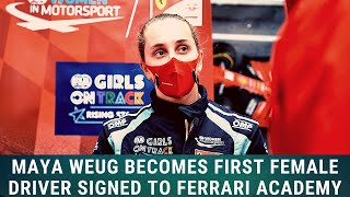 Maya Weug becomes first female racer to join Ferrari Driver Academy - F1 News 22 01 21