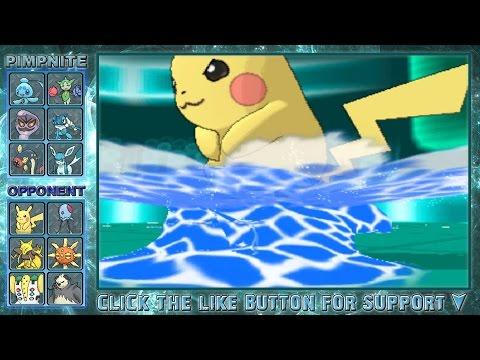 Pokemon X and Y WiFi Battle - SURFING PIKACHU!