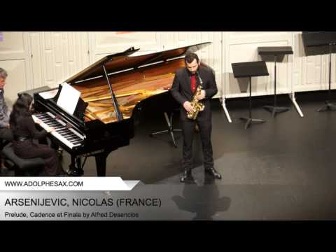 Dinant 2014 - ARSENIJEVIC Nicolas (Prelude, Cadence et Finale by Alfred Desenclos)