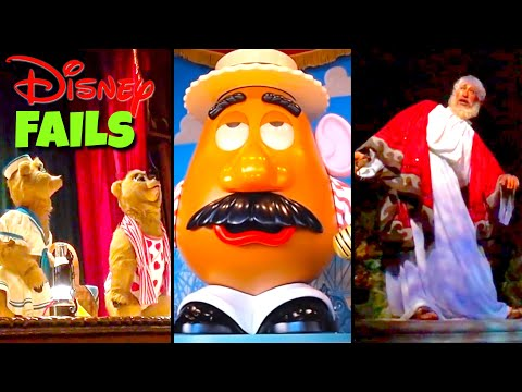 Top 10 Disney Fails, Bloopers & Animatronic Malfunctions Pt 8