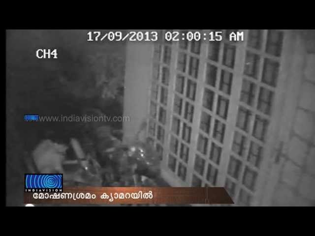 Visuals of Young Man trying to Stole bike in CCTV