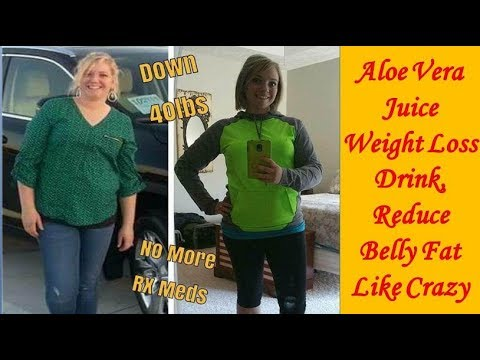 Aloe Vera Juice Weight Loss Drink, Reduce Belly Fat Like Crazy