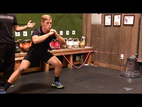 Corey with Innovative Results explains Lateral Lunge using Wall Mount VersaPulley