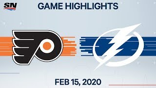 NHL Highlights | Flyers vs Lightning – Feb. 15, 2020