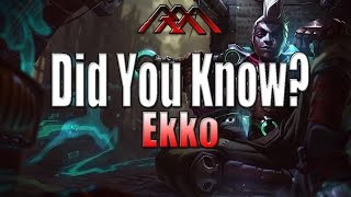 Ekko - Did You Know? - Ep #92 - League of Legends
