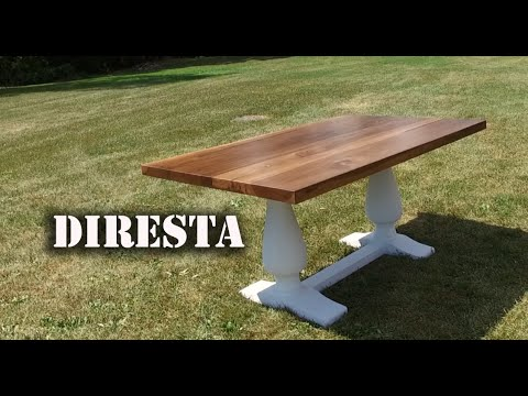 ✔ DiResta Pedestal Trestle Table