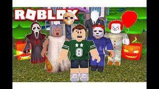 يوم هالوين فى لعبة roblox !! رعب في كل مكان      -