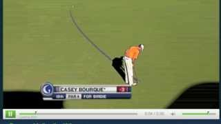 Golf Channel Coverage PGA Tour - Bourque 18th Hole Putt in Las Vegas