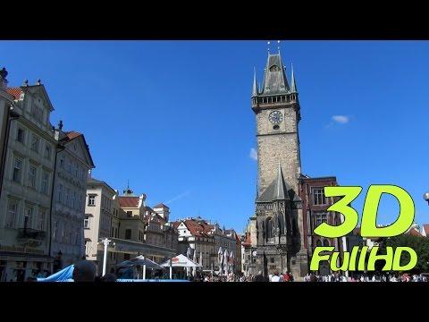 [3DHD] From Náměstí Republiky to Old Town Square (Staroměstské náměstí), Prague, Czech Republic