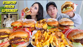 ANIMAL STYLE IN-N-OUT CHEESY BURGERS + FRIES MUKBANG 먹방 | Eating Show