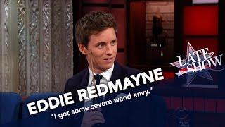 Eddie Redmayne Shows Off His Wand Skills