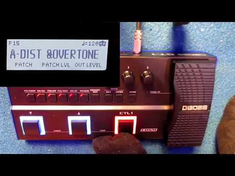 video Boss GT1 Guitar Effect Processor