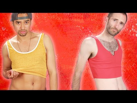 Men Wear Crop Tops For A Day