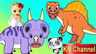 Trò chơi KN Channel BÚP BÊ LẠC VÀO THỜI TIỀN SỬ KHỦNG LONG  tập 2 | KHỦNG LONG 3 SỪNG