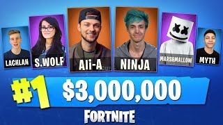 Playing in the WORLD'S BIGGEST Fortnite Tournament! (w/ Ali-A, Ninja, Lachlan, Myth + MORE)