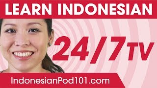 Learn Indonesian 24/7 with IndonesianPod101 TV