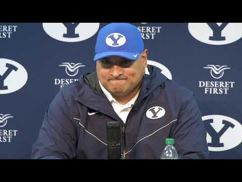 BYU Football | Postgame | Texas State | Kalani Sitake | October 24, 2020