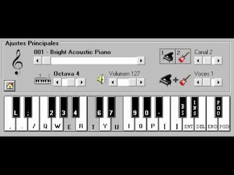piano electronico 2.5 tu papa (Hasta que salga el sol)