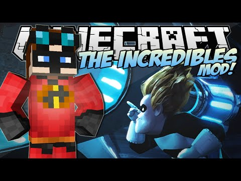 Minecraft | THE INCREDIBLES MOD! (Become an Incredible & Frozone!) | Mod Showcase - TheDiamondMinecart  - fVv3FdRcXKY -