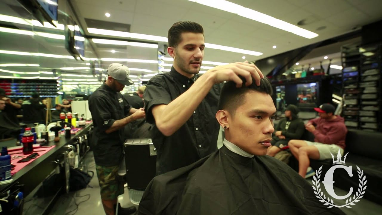 Culture Kings Barbershop How To Style A Side Pomp Youtube