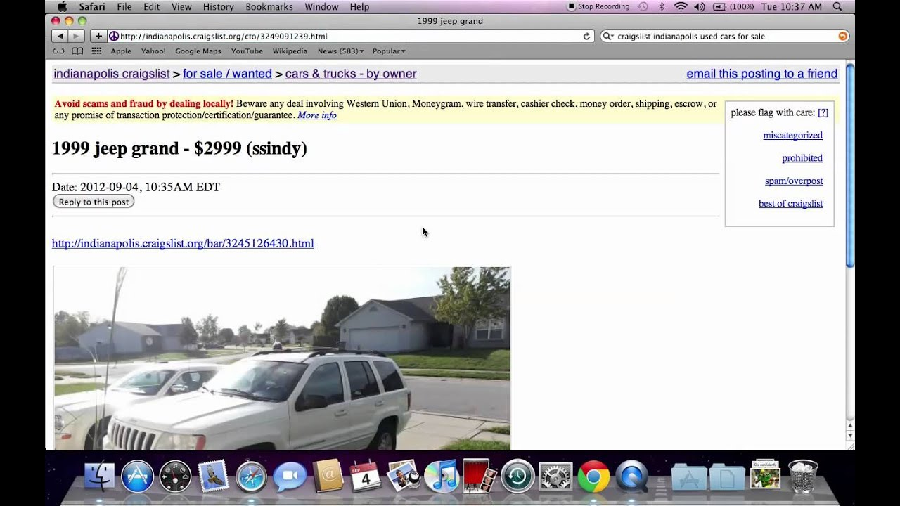 Cars For Sale Under 2000 On Craigslist >> Craigslist Indianapolis Used Cars and Trucks - Best Local For Sale by Owner Options - YouTube