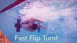 How to do a fast flipturn in freestyle. Swimming technique