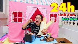 Thử Thách 24 Giờ ( Làm Slime, Ăn Lẩu ) Sinh Tồn Trên Sân Thượng P2 ( 24 Hours Challenge )