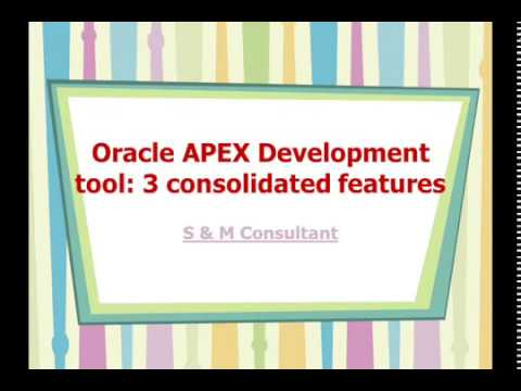 Oracle APEX Development tool