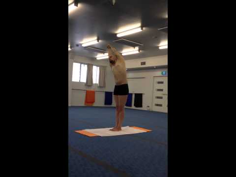 Bikram Yoga Half moon Pose Brisbane