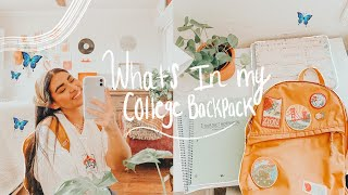 what's in my college backpack🎒 +back to school supplies haul