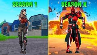 Evolution of Season Dances in Fortnite (Season 1 - Season X)