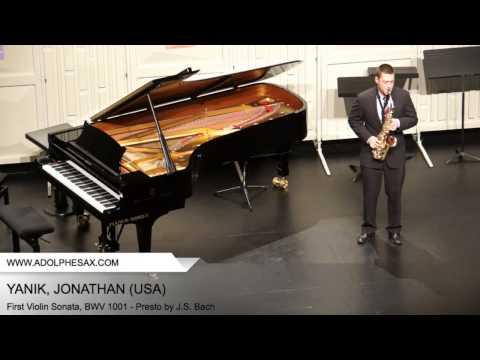 Dinant 2014 - YANIK Jonathan (First Violin Sonata, BWV 1001 - Presto by J.S. Bach)