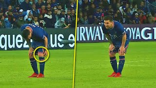 The moment Lionel Messi got injured and substitution - vs Lyon