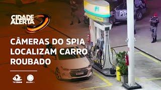 Câmeras do SPIA localizam carro roubado e prende suspeito