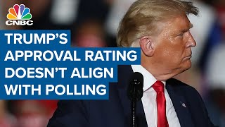 Trying to parse the difference between polls and President Donald Trump's approval rating