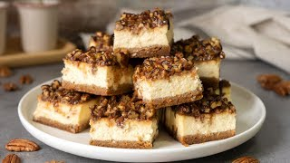 Pecan Cheesecake Bars Recipe