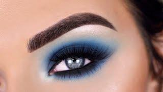 Matte Blue Smokey Eye Makeup Tutorial | Jeffree Star Blue Blood