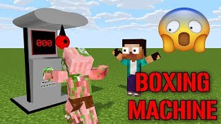 Monster School | Boxing Machine Challenge | Minecraft Animations