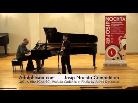 Josip Nochta Competition LUCIJA HRASCANEC Prelude Cadence et Finale by Alfred Desenclos