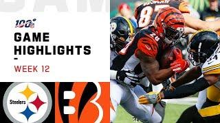 Steelers vs. Bengals Week 12 Highlights | NFL 2019