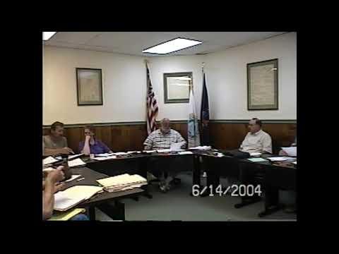 Champlain Village Board Meeting  6-14-04